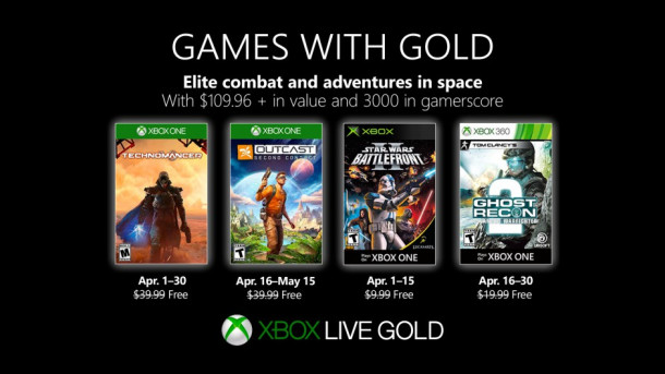 Xbox free Games with Gold for April 2019   Authcom Industries, Inc
